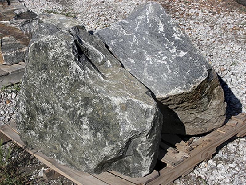 Rock test maple85 for Black granite landscape rock